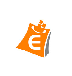 Shopping online initial e vector