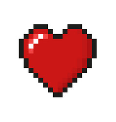 simple heart icon design vector image