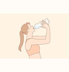 sport recreation break drink concept vector image