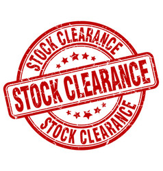 Stock clearance stamp vector