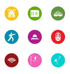 struggle icons set flat style vector image