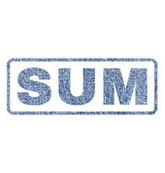 Sum textile stamp vector