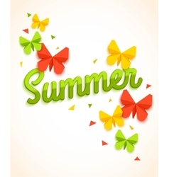 Summer Sale Banner with paper butterfly and vector