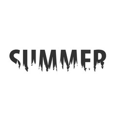 summer text or labels with silhouette of forest vector image