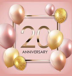 Template 20 years anniversary background vector