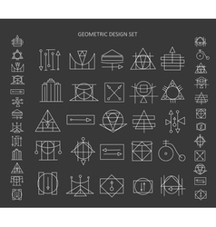 The set of geometric signs vector image