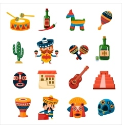 Traditional Mexican Symbols Collection vector