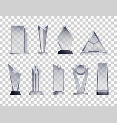 Trophies transparent set vector