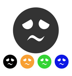 Trouble smiley icon vector