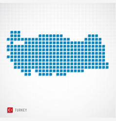 turkey map and flag icon vector image