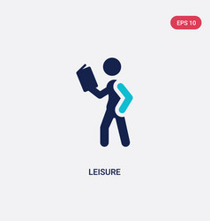 Two color leisure icon from education concept vector