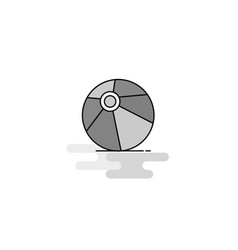 volley ball web icon flat line filled gray icon vector image