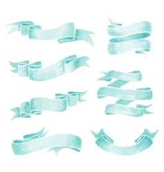 Watercolor Ribbons vector