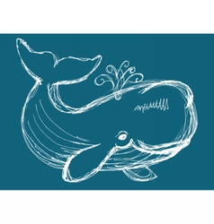 Whale animal vector image vector image
