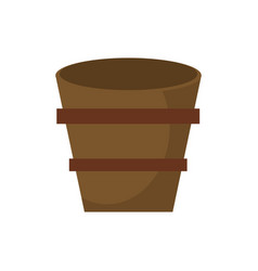 wooden bucket empty image vector image