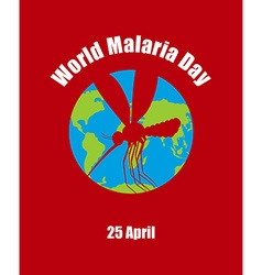 World Malaria Day Poster for international holiday vector