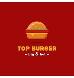 bright burger restaurant logo Brand sign vector image vector image