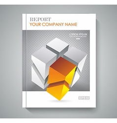 brochure template design with 3d cubes vector image vector image