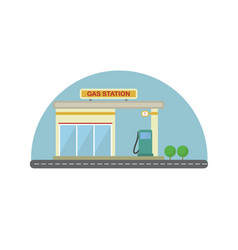 gas station flat design vector image vector image