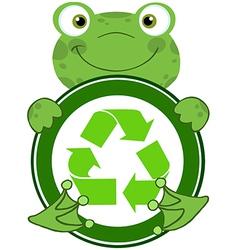 Recycle eco logo frog vector image vector image