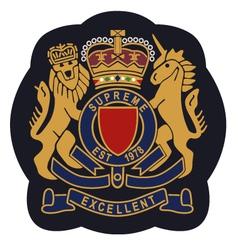 royal emblem badge shield vector image vector image