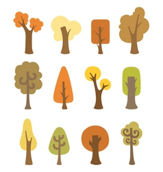 Autumnal trees vector image vector image