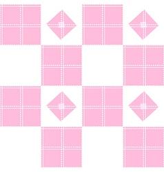 Chessboard Pink Background vector image vector image