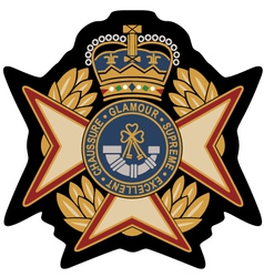 emblem badge shield vector image vector image