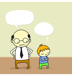 father arguing with his son vector image vector image