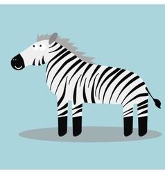Happy cartoon zebra vector image