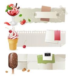 Ice cream banners vector