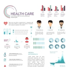 Medical Infographics health and healthcare data vector image vector image