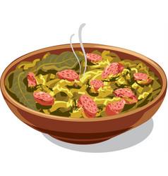 traditional dish bigos vector image