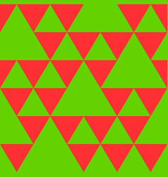 triangle seamless pattern in new year colors vector image vector image