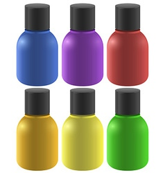 Colourful ink bottles vector image