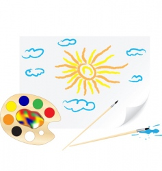 drawing sun vector image vector image