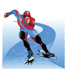ice skater vector image vector image