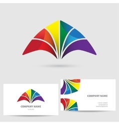 Modern icon design logo element with business card vector image