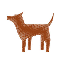 pet dog mascot silhouette vector image vector image