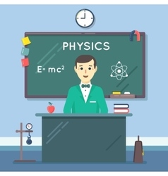 School physics teacher in audience flat vector image