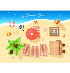 Summer time top view vector