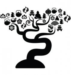 zen icons tree vector image vector image