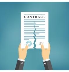 Contract termination concept vector image vector image