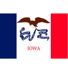 Flag of iowa usa vector