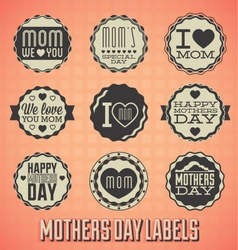 Happy Mothers Day Labels and Icons vector image