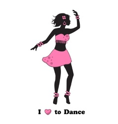I love to dance vector image