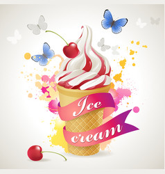 ice cream cone background vector image