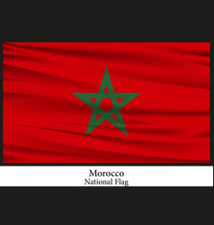 national flag of morocco vector image vector image