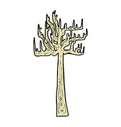 old bare tree comic cartoon vector image
