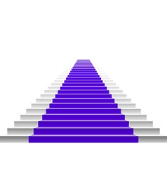 3d image of violet carpet on white stair vector image